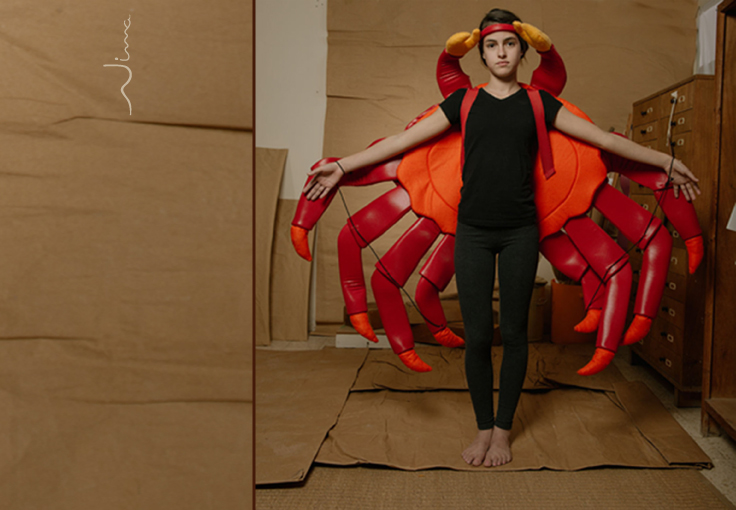 Costumes on stage - Crab