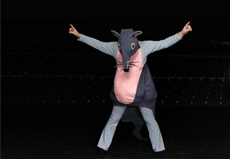 Costumes on stage - Mouse