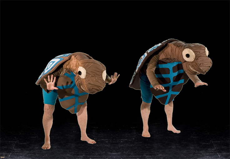 Costumes on stage - Turtles