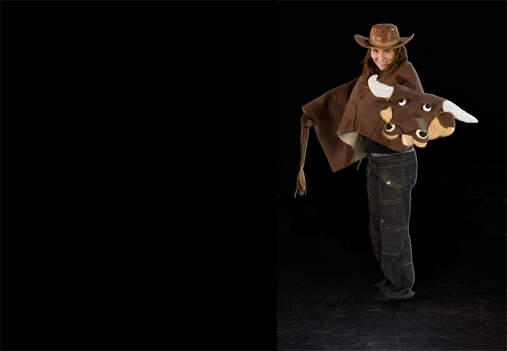 Costumes on stage - Cowgirl